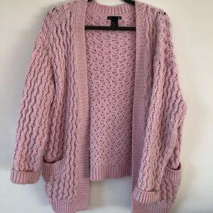 Pink chunky knit sweater